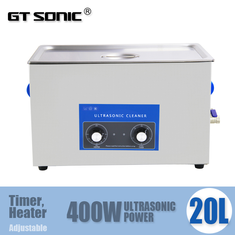 20L Industry Ultrasonic Cleaner with heater and timer 40KHz ultrasonic frequency VGT-2120QT(China (Mainland))