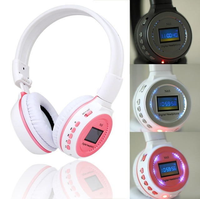 ZEALOTN65 LED Headhand 3.5mm Sports Music Wireless Headphone MMC / SD / TF card Headset
