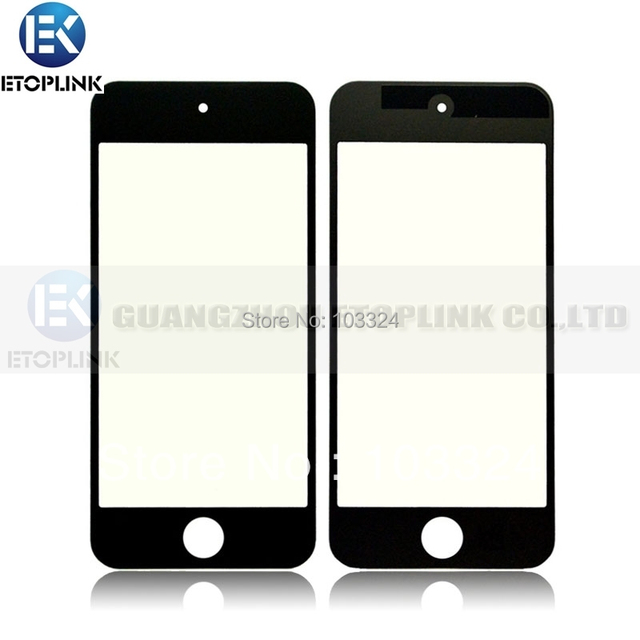 New Glass Lens Screen Cover Replacement for iPod Touch 5 5th 5G Wihte & Black Free Shipping