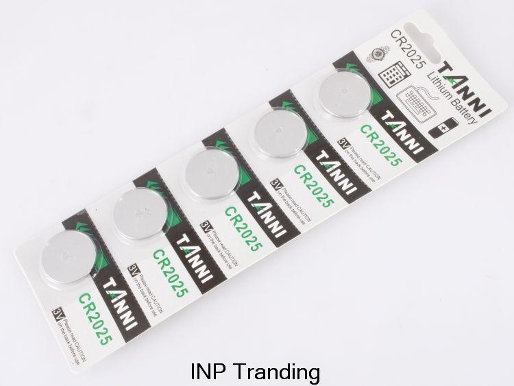 Гаджет  5Pcs/Lot RETAIL New LONG LASTING CR2025 CR 2025 DL2025 Watch Button Coin Cell Battery Lithium Japan Brand 100% Genuine Original None Бытовая электроника