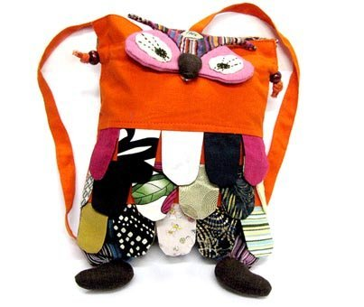 Handicrafted Fashion Backpack School Backpack Pink Cloth Art 10pcs Assorted Color Free Shipping