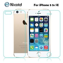 Buy 2Pcs/Lot 0.3mm 2.5D Tempered Glass Screen Protector Front + Back iPhone 5s 5 SE Explosion-Proof Protective Film iPhone 5 for $1.41 in AliExpress store