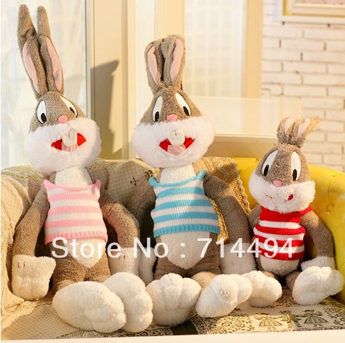 100cm Cartoon Selling Item Plush Bugs Bunny Stuffed Animal Kawaii Doll For Kids Soft Pillow For Girls Funning Toy Free Shipping(China (Mainland))