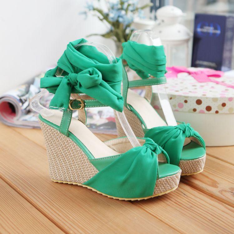 2015 New Platform Shoes Woman Summer Sandals For Women Fashion Wedge Lady Sandals High Heel Peep Toe Shoes Sandalias Plataforma