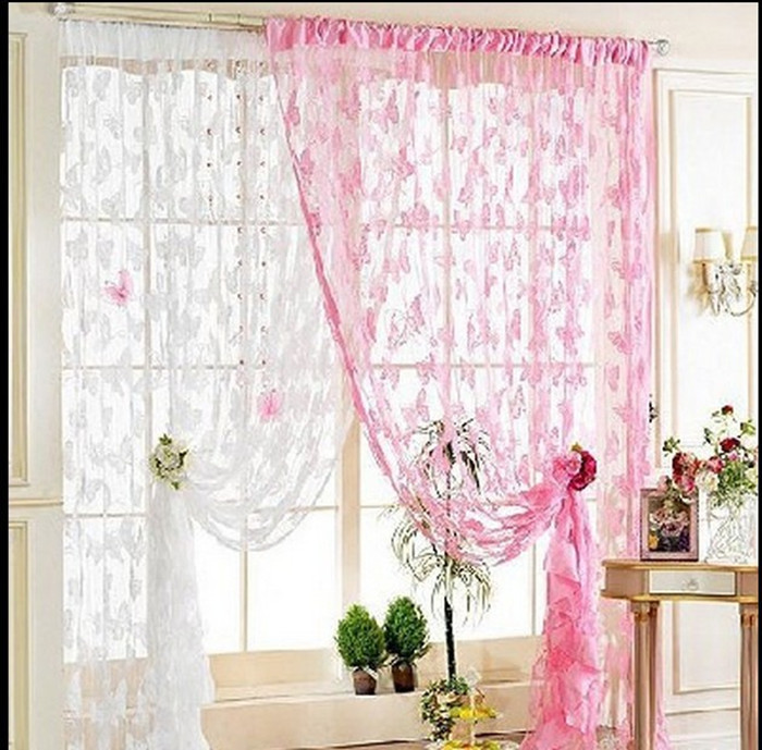 Butterfly pattern curtains fashion decoration drapes for M s living room curtains