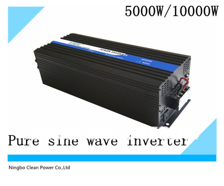HOT selling! 12VDC to 120VAC 5000W Pure Sine Wave Power Inverter (CP-P-5000W)(China (Mainland))