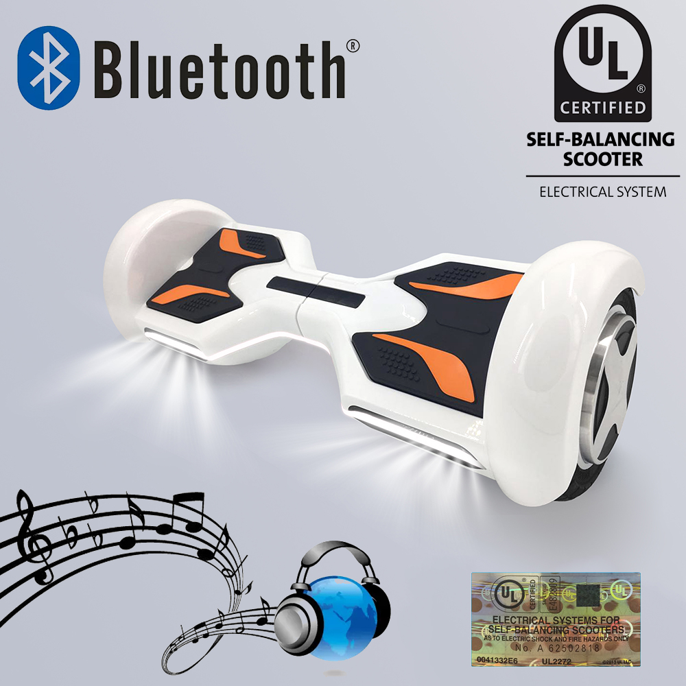 UL2722 hoverboard 8 inch bluetooth Electric Skateboard steering-wheel Smart 2 wheel self Balance Standing scooter Giroskuter(China (Mainland))