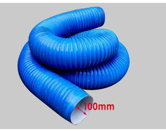 D100mm L3000 cleaner pipes plastic tubes Dust exhaust pipe(China (Mainland))