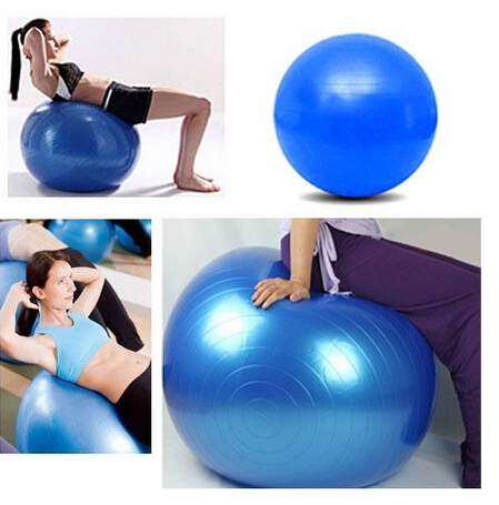 Free Shipping Women 65 cm Body Aerobics Pilates Yoga Ball Exercise Home Gym Swiss Fitness Ball With One Free Pump(China (Mainland))