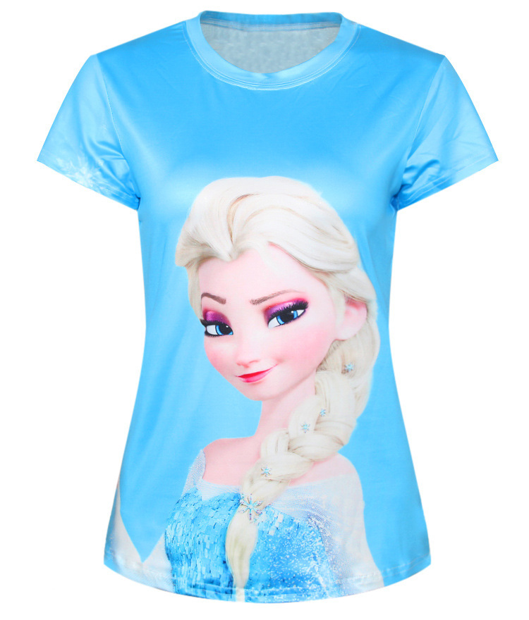 Hot Sale 21 colors 2015 New Arrival Fashion 3D Print T-shirt Women Tops Cute Sexy Cartoon Cat Digital Printed T shirt Tees(China (Mainland))