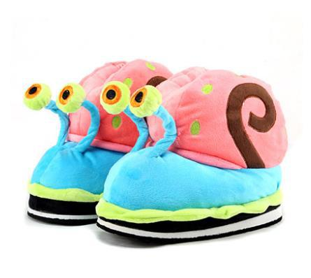 Snail slippers female autumn and winter warm shoes three-dimensional toy package with shoes derlook cotton-padded shoes<br><br>Aliexpress