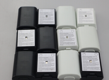 50 pcs black white color Battery Pack Cover Shell Case Replacement for Xbox 360 Wireless Controller battery cover color()