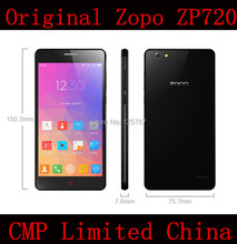 DHL Fast Delivery Zopo ZP720 4G FDD LTE 5.3 Inch IPS 1280X720 MTK6732 64 Bit Quad Core Android 4.4 1GB/16GB 13MP LTE Cell Phone(China (Mainland))