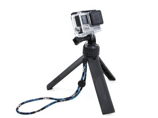 Go pro Adjustable Tripod 360 Degree 2-Way monopod Wrist Strap for GoPro Hero 4 Session 3+3 xiaomi yi Camera accessories
