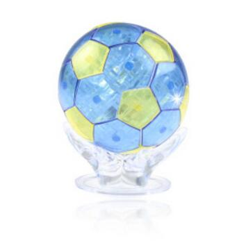 NEW 2016 Children's Educational Toys Soccer Crystal Football Games Puzzle 3D Jigsaw Toys DIY 3D Puzzles For Kids Or Adults(China (Mainland))