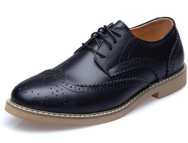 Новые 2015 оксфорд обувь для мужчины пу кожаные ботинки британский стиль старинных ...