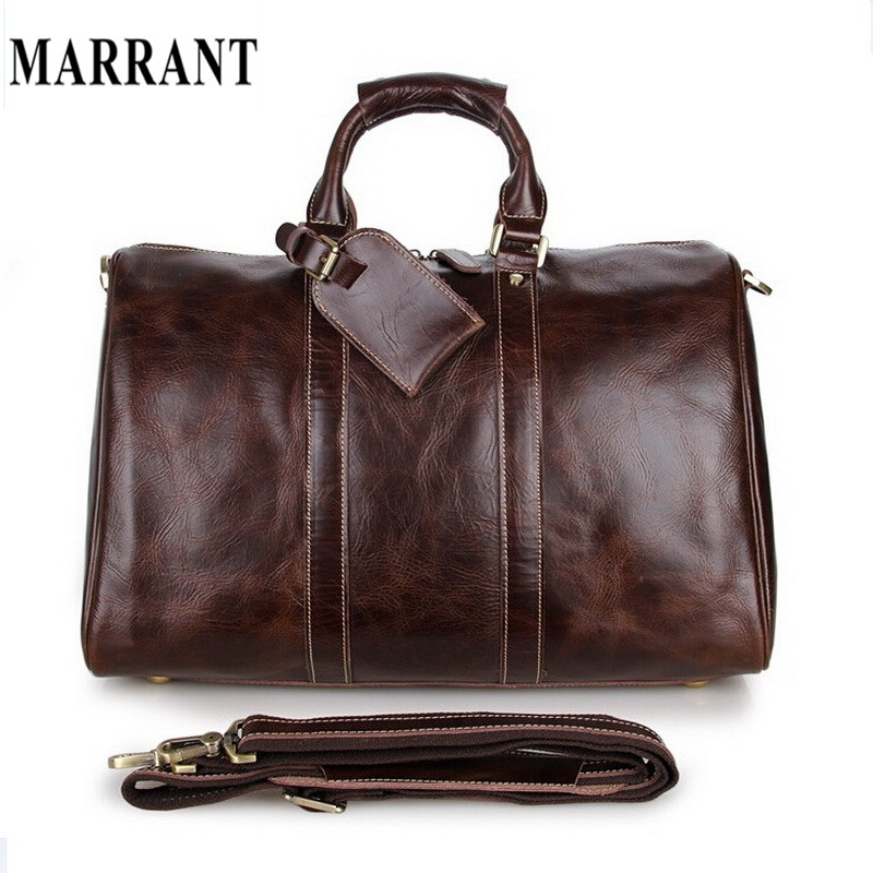 Hot Sale Large Capacity Fashion Men Travel Bag Shoulder Handbag Tote Luggage Design Leather Luggage Vintage Men Gym Duffle(China (Mainland))