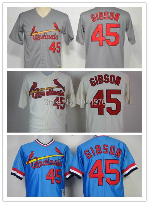 Cheap New Baseball Jerseys St.Louis Cardinals #45 Bob Ginsoh Blue 1979 Throwback customer design Quality jersey Free Shipping<br><br>Aliexpress