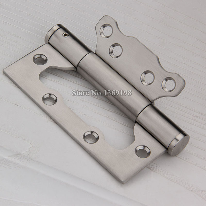 High Quality 2PCS Stainless Steel Hinge Furniture Door Bearing Hinge 4Inch Cabinet Wood Box Cupboard Buffer Hydraulic Mute Hinge(China (Mainland))