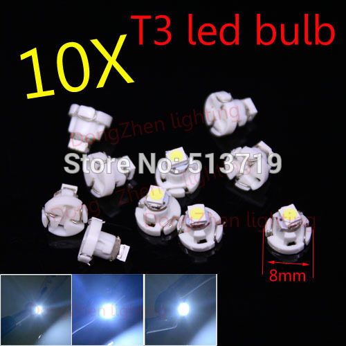 Гаджет  Free shipping 10x White T3 1 SMD Neo Wedge LED Bulb Cluster Instrument Dash Climate Base Light None Автомобили и Мотоциклы