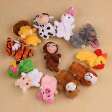 Essential New Hot Sell 12Pcs Chinese Zodiac Soft Animal Puppet Finger Toys Plush Toys Oct29 Free Shipping(China (Mainland))