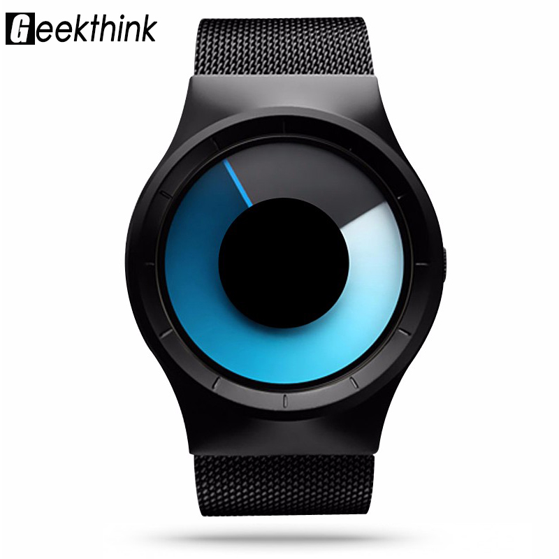 Geekthink Fashion Casual Quartz watch Men Role Stainless Celeste Watch Unique design Series Northern Lights Watch with gift box(China (Mainland))