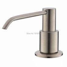 New Brushed Nickel Metal Stainless Steel Kitchen Sink Bottle Liquid Soap Dispenser Built In Hand Soap Dispenser Pump(China (Mainland))
