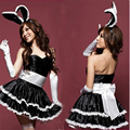 New arrival bunny girl stage Sexy Halloween Costumes Rabbit Maid Cosplay women Christmas clothing set nightclub