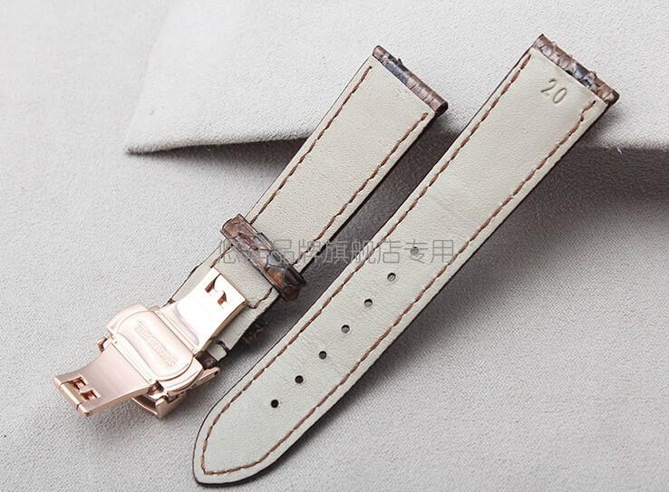 Ремешки 18 мм 19 мм 20 мм 21 мм 22 мм новый черный подлинная кожи питона кожаный ремешок браслеты розового золота стали часы пряжки
