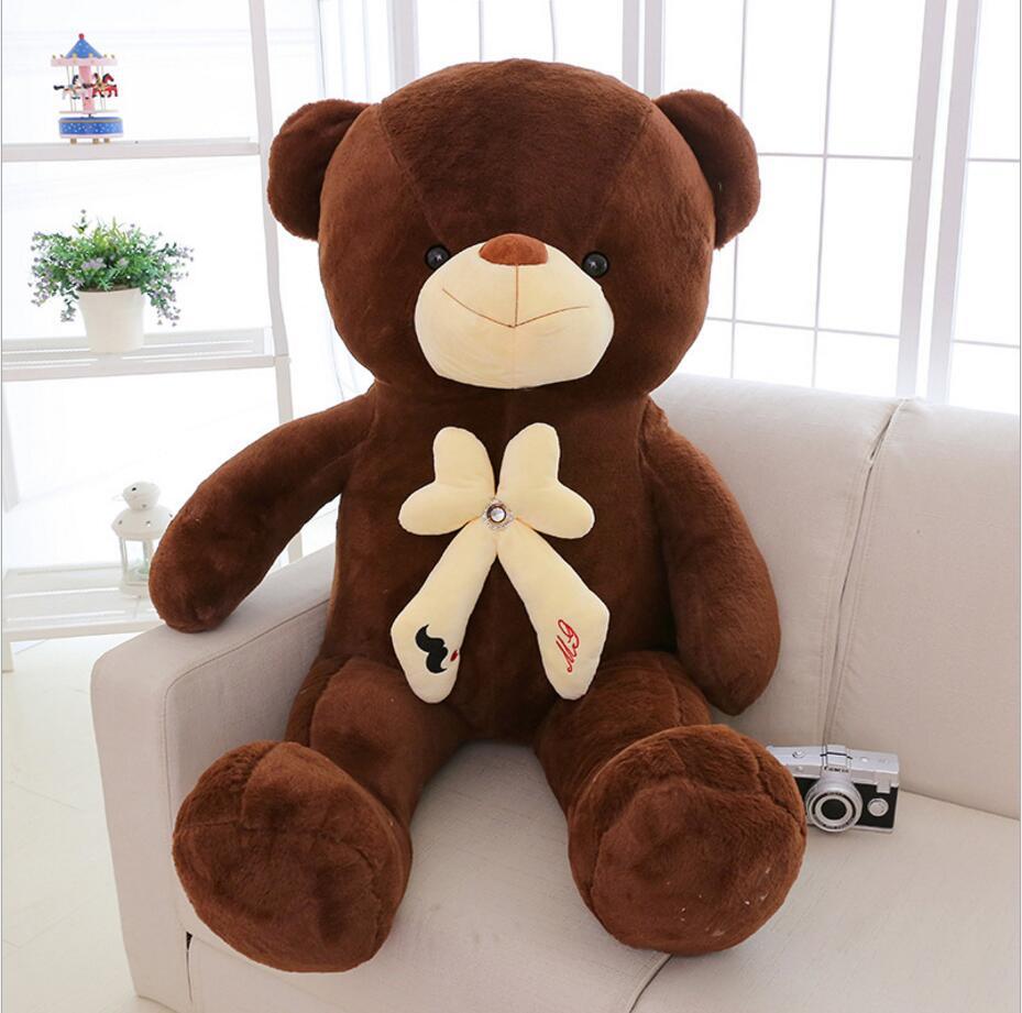 120CM Giant Teddy Bear Doll Plush Toys Gifts Stuffed Plush Animal Huge Stuffed Bear Toys For Kids Gift Kawaii Juguetes Baby Toys(China (Mainland))