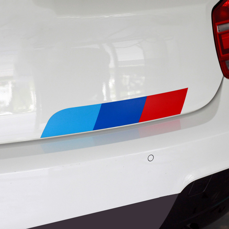 10 Sets M Colors German flag Car Tail Sticker Badge Car-styling For BENZ BMW Volkswagen Audi German cars car accessories(China (Mainland))