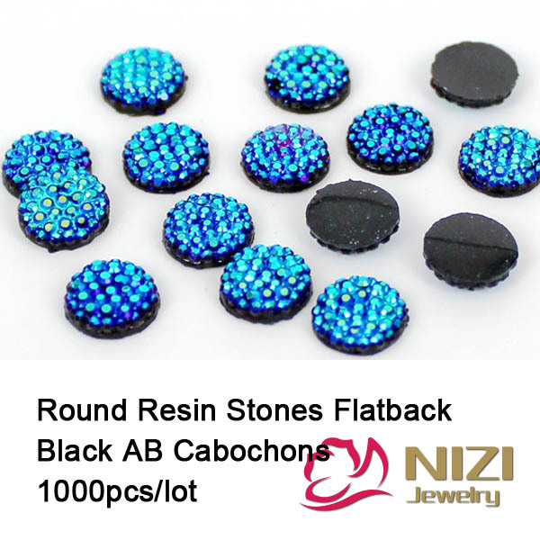 8mm 1000pcs Resin Stones Black AB Round All Star Resin Rhinestone Cabochon Beads DIY Accessories Cabochons Sparkly Resin Stones<br><br>Aliexpress