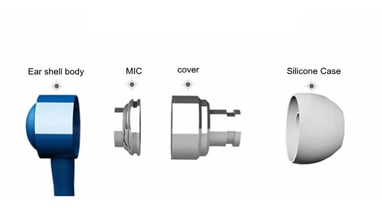 2016 Zipper Metal Earphone Fashion Headphone Microphone Stereo Bass Headset for phone ipad MP3 of 9 colors