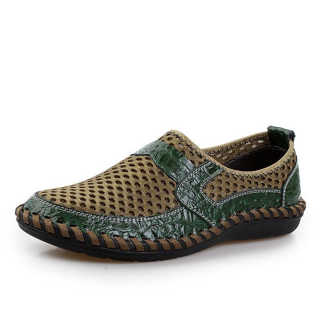 2016 лето воздухопроницаемой сеткой мужские свободного покроя обувь из натуральной ...