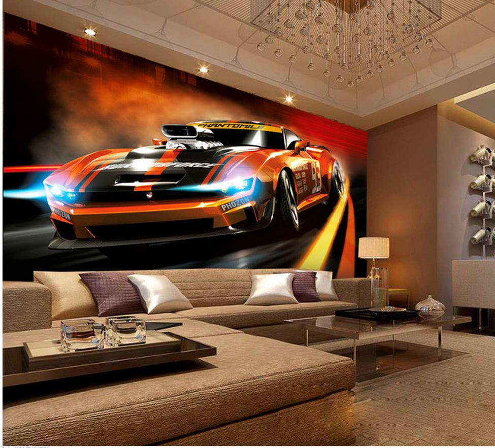 Custom photo wallpaper Large 3D sofa TV background wallpaper mural wall car 3d mural wallpaper 201517208(China (Mainland))