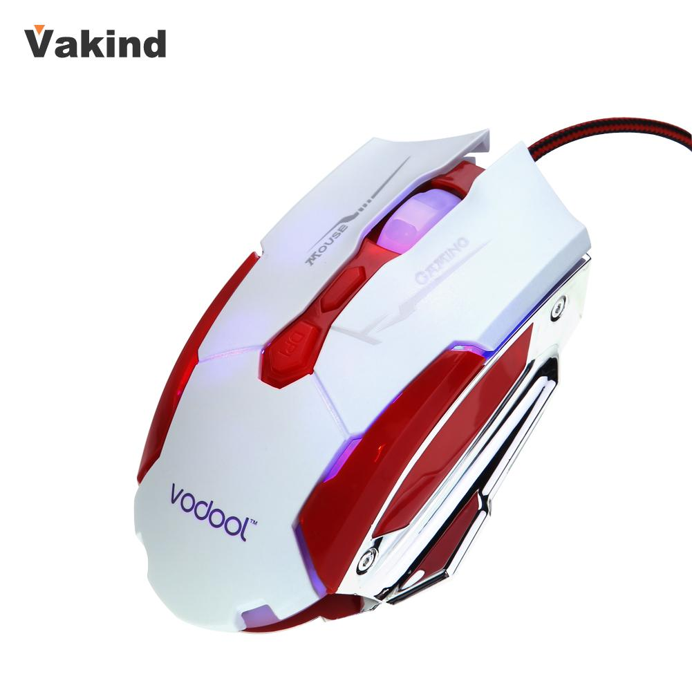 Brand New VODOOL Wired USB Optical Gaming Mouse 7 Buttons Adjustable 4000DPI Computer Mouse Mice Cable Mouse for Pro Gamer(China (Mainland))