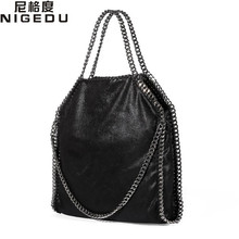 Buy Women Bag PU Leather Fashion Chain Woven Messenger Shoulder Bags Bolsa Feminina Carteras Mujer handbags Women's Totes for $24.30 in AliExpress store