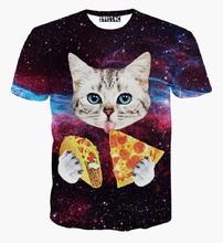 New 3D T-shirts Unisex Summer Style Men Skulls Funny Joker Animal Cat Pizza Printed Tees Short Sleeve Tops Hip Hop Camisetas