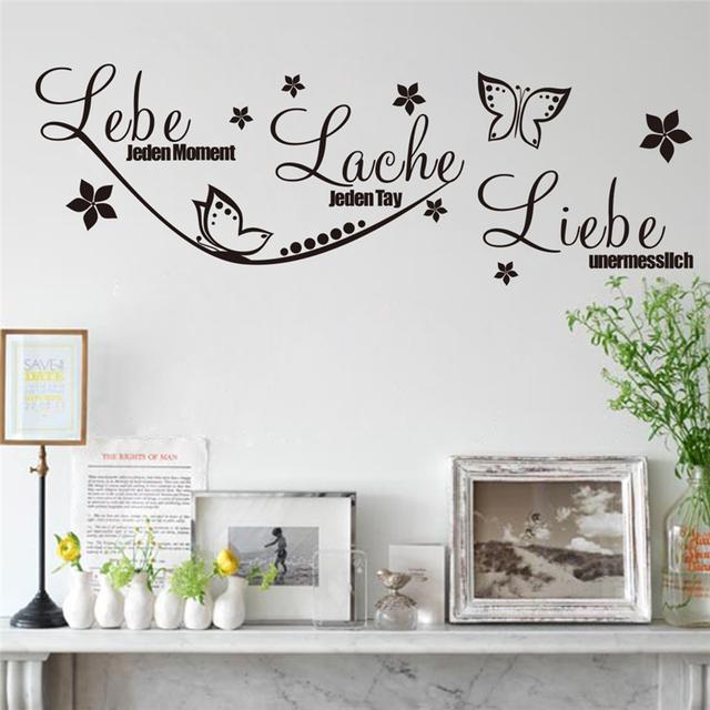 Lebe бирс LACHE LIEBE стены стикеры живой смеяться любовь стены наклейка декор номеров гостиная украшения искусства