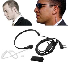 In stock! Single Pin Throat Mic Covert Acoustic Tube Earpiece Headset for Motorola Newest(China (Mainland))