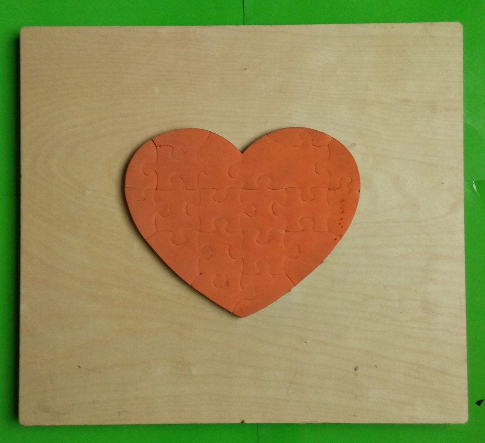 puzzle die Heart-shaped-20pcs mold die cutter jigsaw puzzle cutting machine Special mold(China (Mainland))