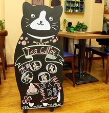 Cat modeling small blackboard Pet Shop clothing store cafe bar decorative billboards(China (Mainland))