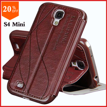 original leather case for samsung galaxy s4 s 4 mini i9190 zoom back case luxury genuine leather by flip cover the phone cases