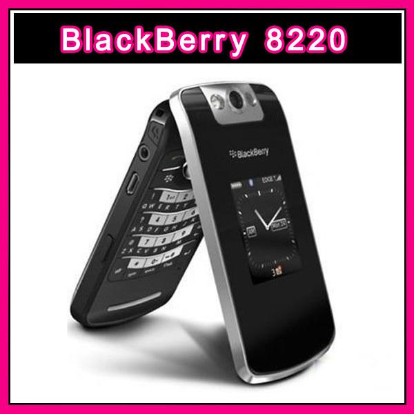 Hot Selling Original BlackBerry Pearl Flip 8220 unlocked cell phone wifi free shipping Refurbished(China (Mainland))
