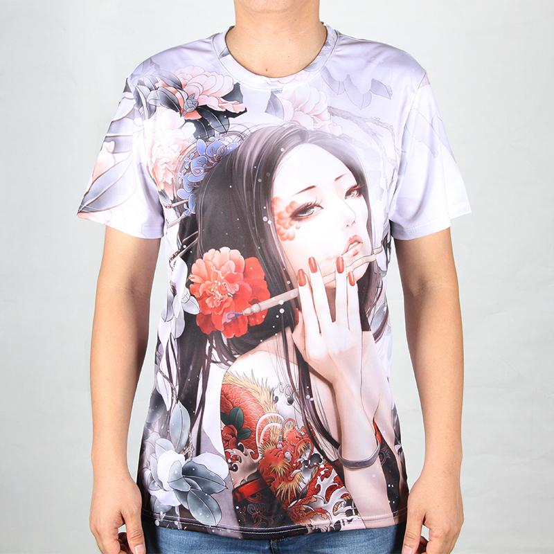 Novelty Summer Tee Male Harajuku Tattoo 3D T Shirt Print Sexy Women Swag Camisas O Neck Top Tees Male CLothing Short SleeveОдежда и ак�е��уары<br><br><br>Aliexpress