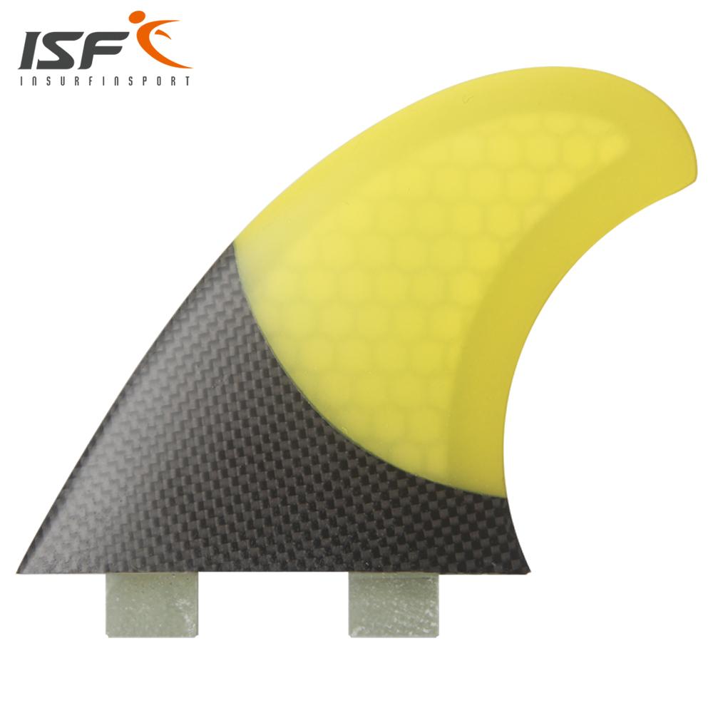 Insurfin Surfboard Fins Fiberglass Carbonfiber Four Quad Fin Set (4) FCS Compatible Yellow Select Color SQ Surf Fin(China (Mainland))