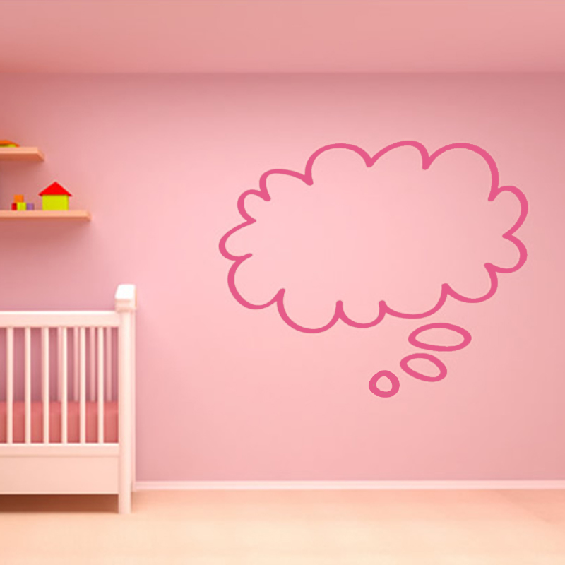 Cute Baby Room Decorative Speech Bubble Cloud Wall Stickers DIY Removable Home Decor Vinyl Simple Wallpaper