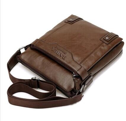 The new high quality men messenger bags single shoulder bag vintage style men leather bag black business bags(China (Mainland))
