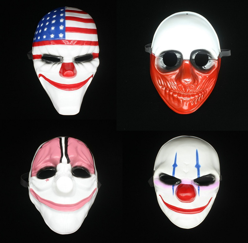 Firm clown flag old man red head styles masquerade masks caretas