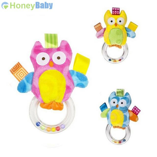 ( 3 шт./лот ) 2014 новое поступление детские руки погремушки сова мужской circusy трехцветный бусины развивающие игрушки WJ094